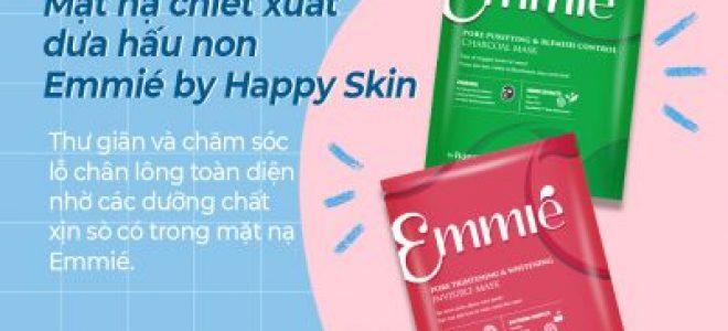 Bộ đôi mặt nạ giấy chiết xuất dưa hấu non Emmié by Happy Skin